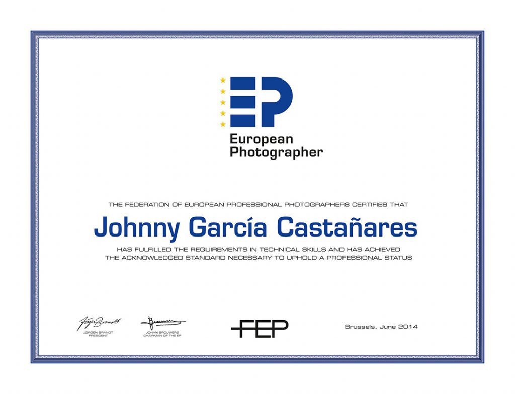 Diploma de calificación EP, European Photographers