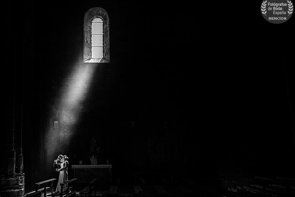 Fotografía ganadora de la mención de honor en la categoría de luz, realizada en Ávila